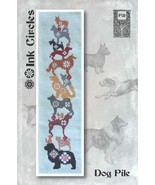 Dog Pile cross stitch chart Ink Circles  - $9.00