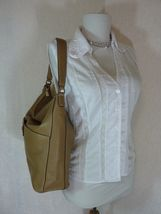 NWT Furla Cappuccino Pebbled Leather Jo Vertical Tote Bag image 3