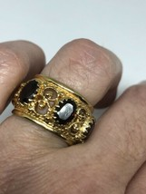 Vintage Garnet Ring Golden 925 Sterling Silver Size 5.5 - $163.35