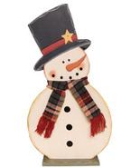 Snowman Decor G34799-Snowman With Scarf on Base  - $13.95