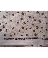 1987 Country Classics Ameritex Cotton Fabric Christmas Village Stars 2 Yds MASKS - $15.00