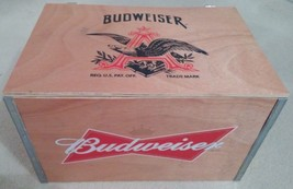2015 Limited Edition Budweiser Wooden Crate ONLY! VERY RARE DESIGN! NEVE... - $39.59