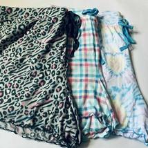 Womens Pajama Shorts XL 2X 3X Tie Dye Moon Stars Plaid Pineapple Super Soft - $11.99