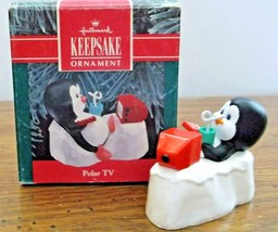 1990 Hallmark Keepsake Polar TV Penguin Christmas Ornament New in Box - $6.19