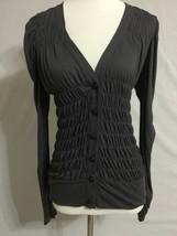 New Anthropologie Leifsdottir Ruffle Cardigan Sweater Sz S 4 6 * - $29.65