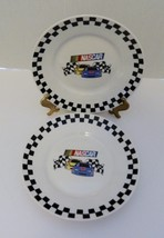 Nascar Victory 2 Luncheon/ Salad Plates by Gibson 2002 Licensed by Nascar - $14.84