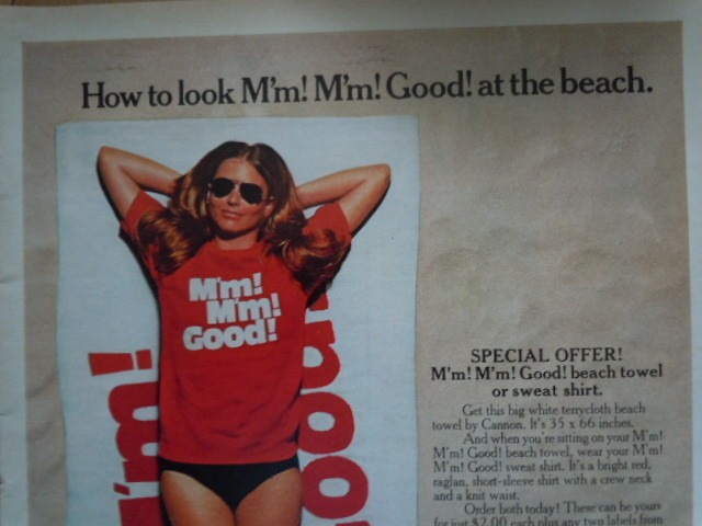 Vintage Campbell's M'm M'm Good Beach Towel Offer Print Magazine Ad 1971 image 2