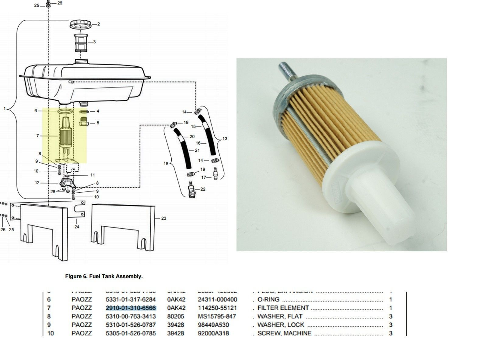 Yanmar L Series Diesel 6 Hp Engines Fuel Filter Element. 114239-55120