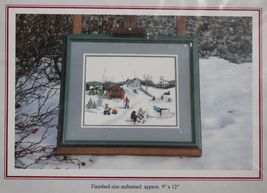 "1995 Foxberry Cross Stitch Embroidery Cape Breton Out On The Mira Kit 9""... - $18.99"