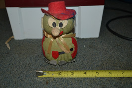 VTG Sewing Pin holder Cushion figurine snowman - $7.91