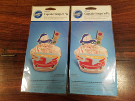 Wilton Wheels Cupcake Wraps 'n Pix Set of Two (2) (NEW) - $4.90