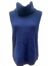 NEW White House Black Market Navy Noble Blue Turtleneck Sweater Vest  Sz... - $23.65