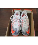 BNIB Nike Air Max Infuriate (GS) Big Boys Running Shoes, 4Y, White/orang... - $54.45