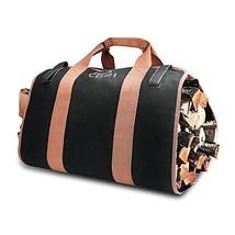 Cehim Firewood Carry Bag, Canvas Firewood Log Carrier Durable Heavy Duty... - $12.62