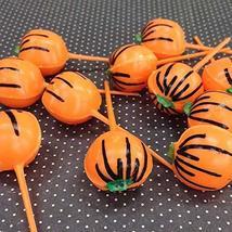 Halloween Cupcake Toppers, Vintage Pumpkin Picks, Halloween Cake Picks (12), Ret - $14.85
