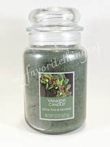Yankee Candle White Pine & Mistletoe Scented Large Classic Jar Candle 22 oz - $30.00