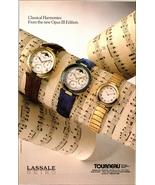 Seiko Watches 1989 AD Lassale Classical Harmonies Opus III Edition Tourneau - $10.99