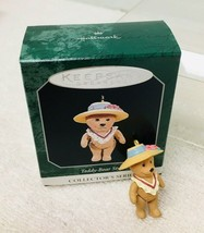 1998 Teddy Bear Style #2  Mini Hallmark Christmas Tree Ornament MIB Pric... - $9.41