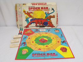 ORIGINAL Vintage 1977 Milton Bradley Spiderman Fantastic Four Board Game... - $46.39