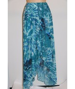 NWT Calvin Klein Swimwear Bikini Cover Up Skirt Sz S/M Cerulean - $20.21
