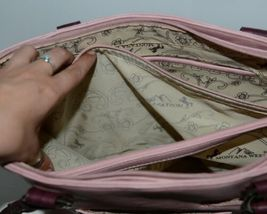 Montana West Collection MW669G 8317 Large Faux Leather Pink Conceal Carry Purse image 6
