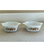 Lot of 2 Vintage Corning Ware Spice Of Life 2 3/4 Cup Petite Dishes. P-43-B - $14.99