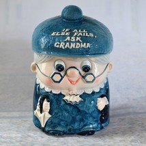 Vintage Enesco Grandma Cookie Jar Cute Ceramic Grandmother Enesco Import... - $29.35