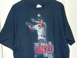 Team Boston Red Sox MLB Adrian Gonzalez Majestic T shirt Mens Blue Size L NWT - $14.20