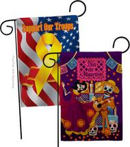 Happy Di de Muertos Burlap - Impressions Decorative Support Our Troops Garden Fl - $34.97