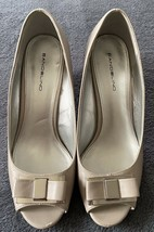 Bandolino Women's Beige Open Toe Wedge with Bow (SIZE 8) - $19.79