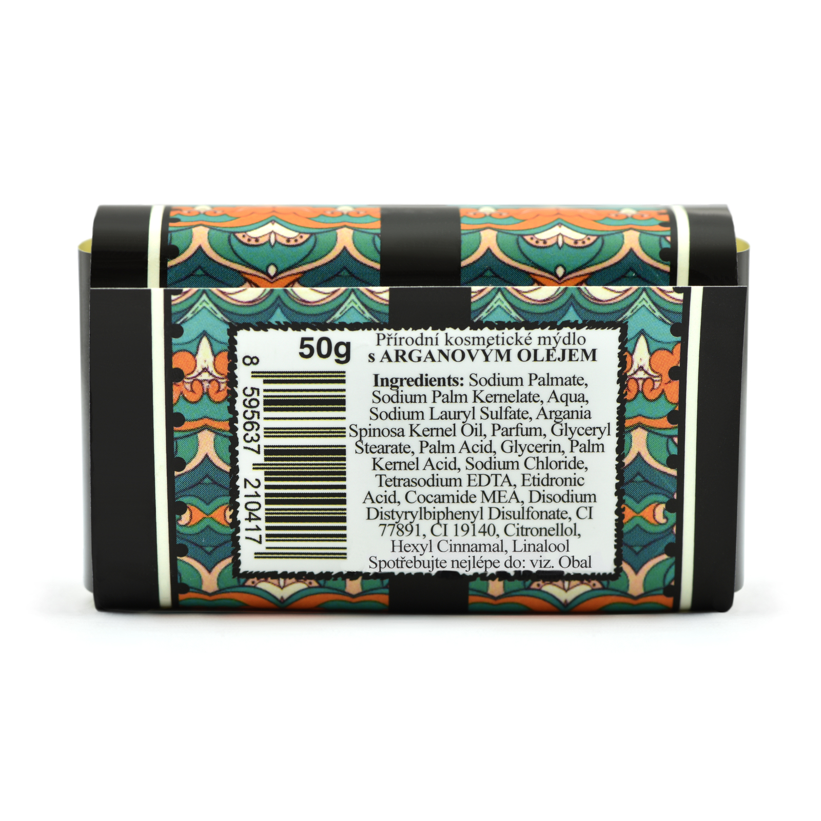 """Natural Hydrating Face &Body Soap with Maroccan ARGAN Oil """"Sweet"""" 50 g - Oli-Oly"""
