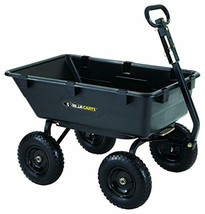 Gorilla Carts GOR6PS Heavy-Duty Poly Yard Dump Cart with 2-in-1 Converti... - $186.88