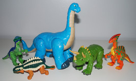 Imaginext Dinosaur Toy LOT Fisher Price Long Neck Triceratops Poseable D... - $49.45
