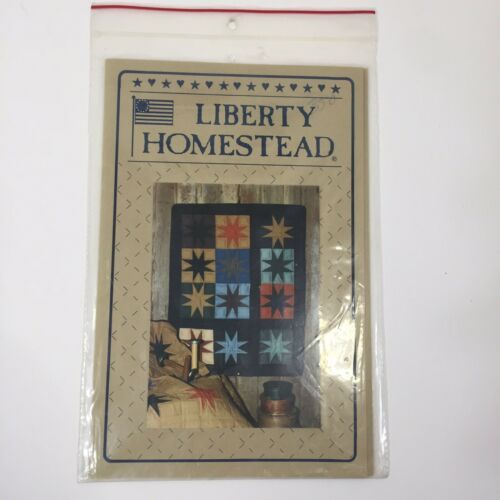 """Eight Pointed Star Quilt Pattern 24"""" x 30"""" Liberty Homestead Blue Whale Designs - $11.64"""
