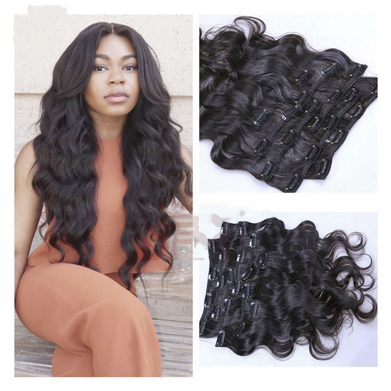 Body Wave Clip In Human Hair Extensions And 18 Similar Items