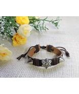 Women Men Unisex Adjustable Fashion Real Leather Star Flower Studded Bra... - $7.45