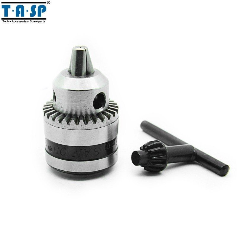 "Primary image for TASP® 6mm Keyed Drill Chuck 3/8"" 24UNF With Key And Adapter Electric Drill"