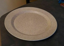 "Homer Laughlin Country Sage Brown Speckled Platter 12"" diameter USA - $12.00"