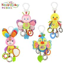 Happy Monkey baby bed bell neonatal baby toys with BB bell plush toy for... - $24.00