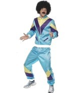 "80'S HEIGHT OF FASHION SHELL SUIT COSTUME, 1980'S FANCY DRESS, CHEST 46""... - £33.03 GBP"