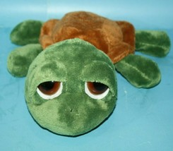 Russ Berrie Lil Peepers SHECKY TURTLE Plush Big Sad Eyes Bean Bag Plush ... - $19.34