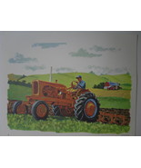 Allis-Chalmers Farm Tractor Plowing Art Print - David C. Cook Co 1966 - $14.40