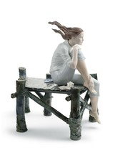 Lladro Sunset at The Pier Woman Figurine 01008462 - $1,900.00