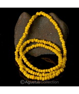 "23.54"" Rare Antique Yellow Tribal Trade Glass Bead Strand Western-Papua ... - $38.75"