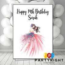 Personalised Woman Girl Dress Birthday Card - Choose the Name And Age (B1) - $2.52