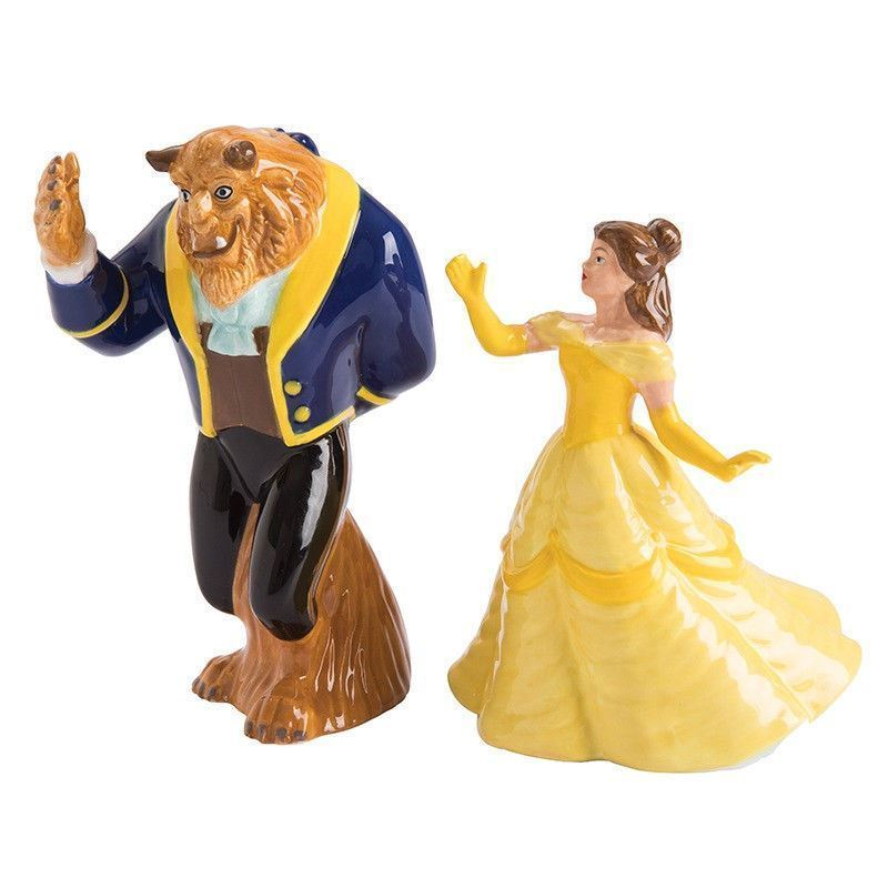 Walt Disney Beauty and the Beast Belle and Beast Salt & Pepper Shaker Set BOXED