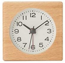 MUJI Beech wood clock with alarm function 70 x 41.5 x 70 mm Model: MJ-BC... - $89.00