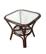 Square Rattan Wicker Coffee Table Helena w/Glass Top - $93.99+