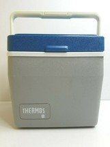 Thermos 8 Qt Cooler #7708 VTG Blue Gray 6 Pack Lunch Fish Hunt Hike Picnic Box - $33.53