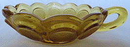 VINTAGE Brown Glass Bowl One Handle Modern Art Decorative 1886 - $35.00